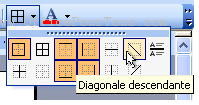 Bordure en diagonale - Tableau Word 2003
