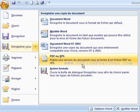 Conversion d un fichier word ou autre en pdf dans office - Comment convertir un fichier pdf en open office ...